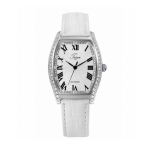 TEIWE BEAUTY WHITE DIAL WHITE LEATHER