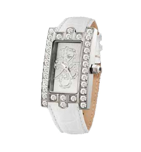TEIWE CROWN TW3065W-B STAINLESS STEEL WHITE LEATHER
