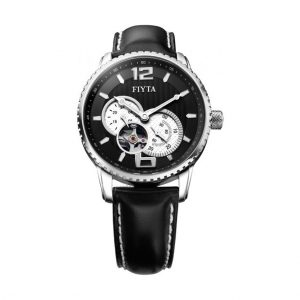 FIYTA PHOTOGRAPHER GENT AUTOMATIC SS BLACK DIAL BLACK CALF LEATHER