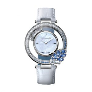GUY LAROCHE SL5003-01 SWISS LADY SS WHITE DIAL WHITE LEATHER