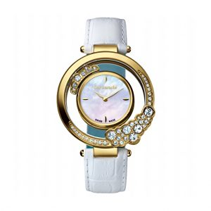 GUY LAROCHE SWISS LADY RG WHITE DIAL WHITE LEATHER