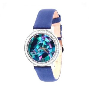 TEIWE MOSAIC SMALL STAINLESS STEEL BLUE LEATHER